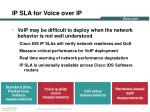 ip sla for voice over ip