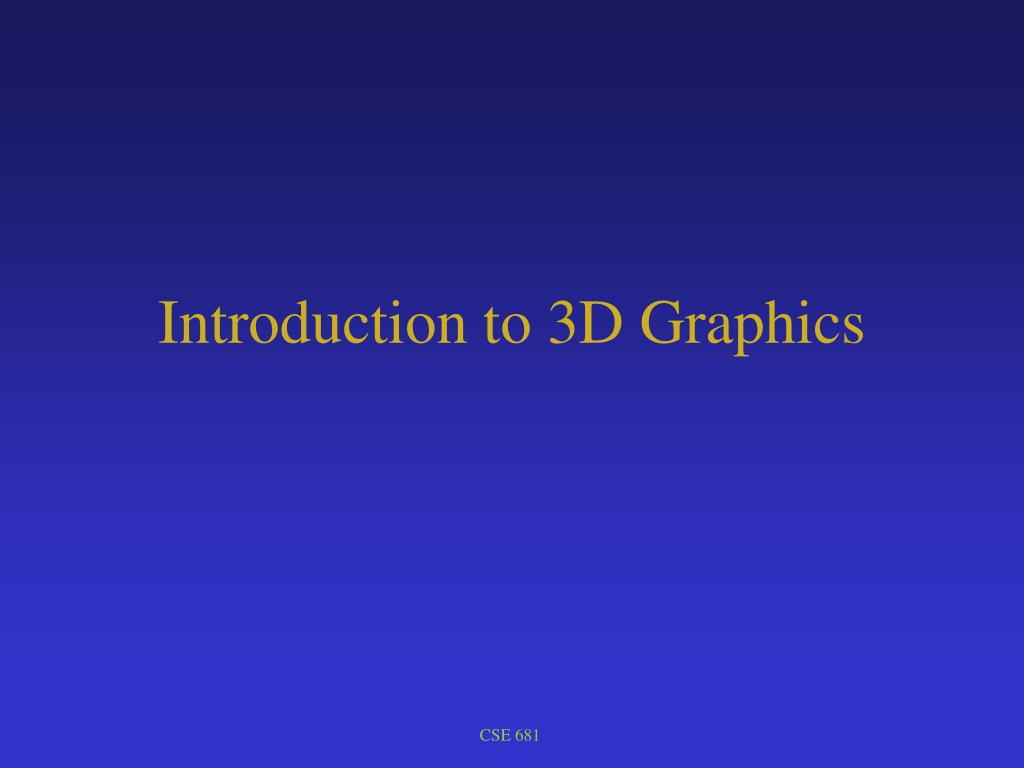 introduction to 3d graphics l.