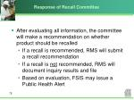 response of recall committee