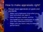 how to make appraisals right32