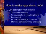 how to make appraisals right35