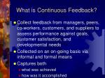 what is continuous feedback