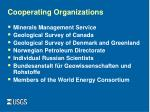 cooperating organizations