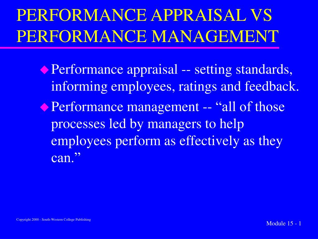 performance appraisal vs performance management l.