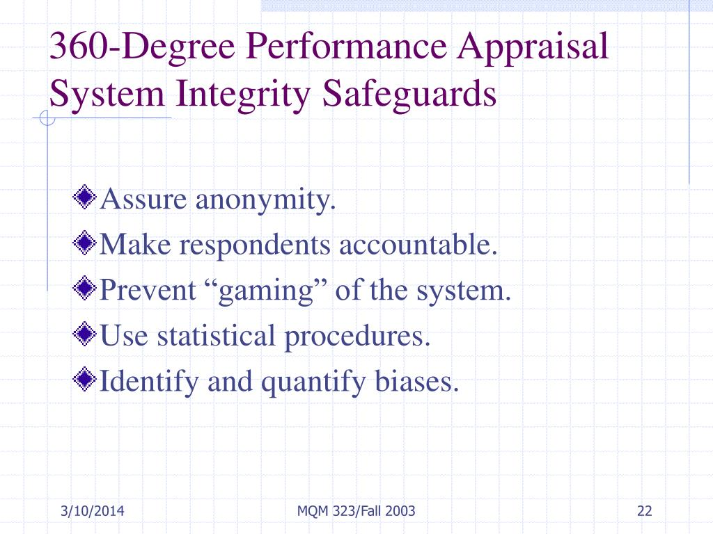 360-Degree Performance Appraisal System Integrity Safeguards