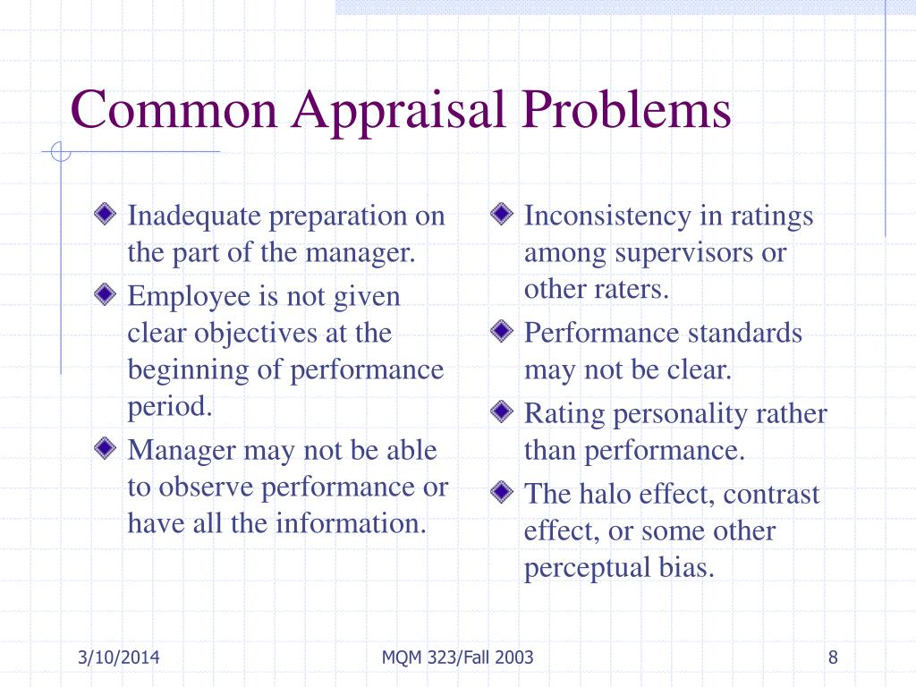 Inadequate preparation on the part of the manager.