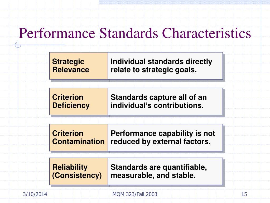 Performance Standards Characteristics