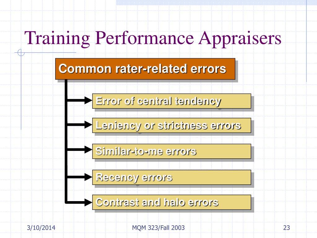 Training Performance Appraisers