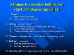 5 things to consider before you start 360 degree appraisal
