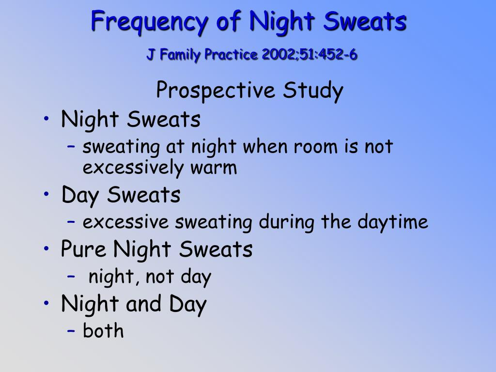 Frequency of Night Sweats