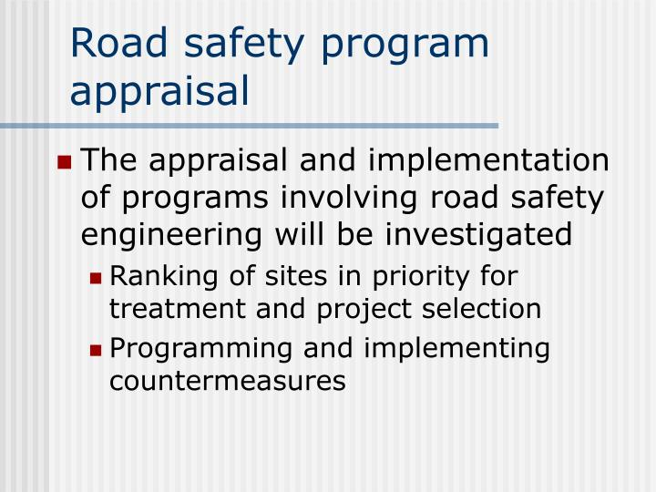 Road safety program appraisal2