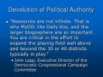 devolution of political authority