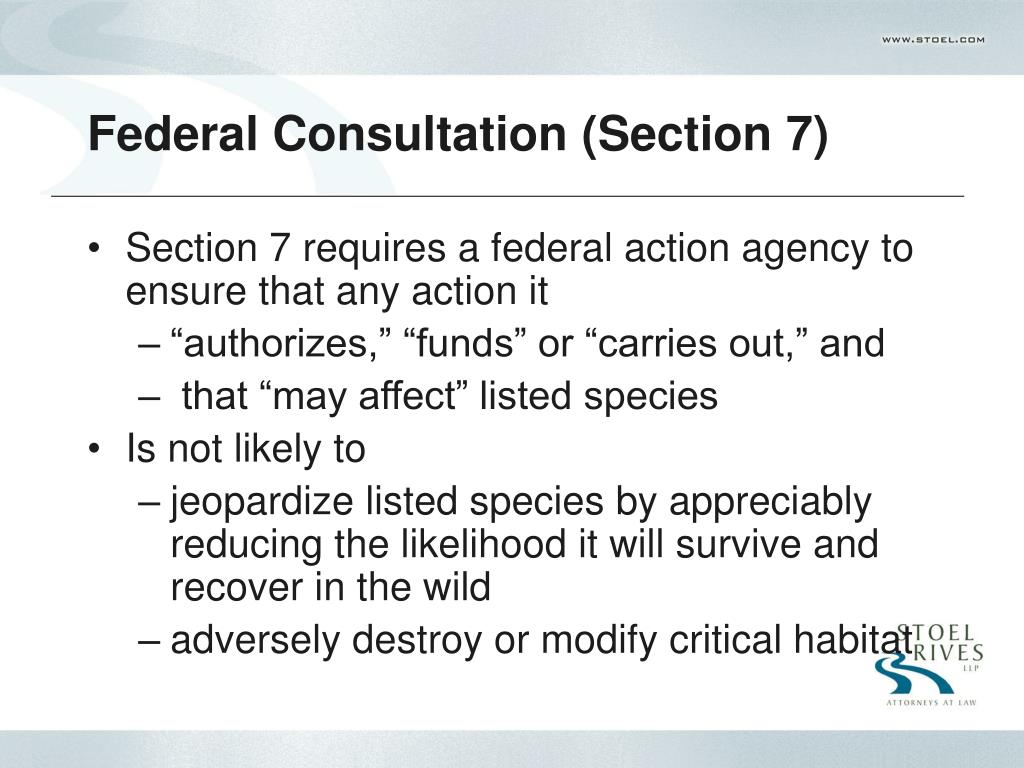 Federal Consultation (Section 7)