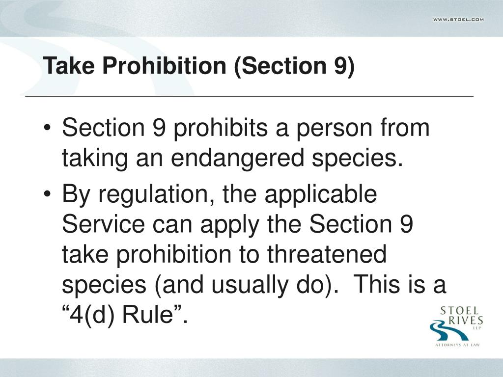 Take Prohibition (Section 9)
