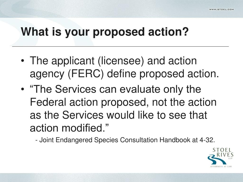 What is your proposed action?
