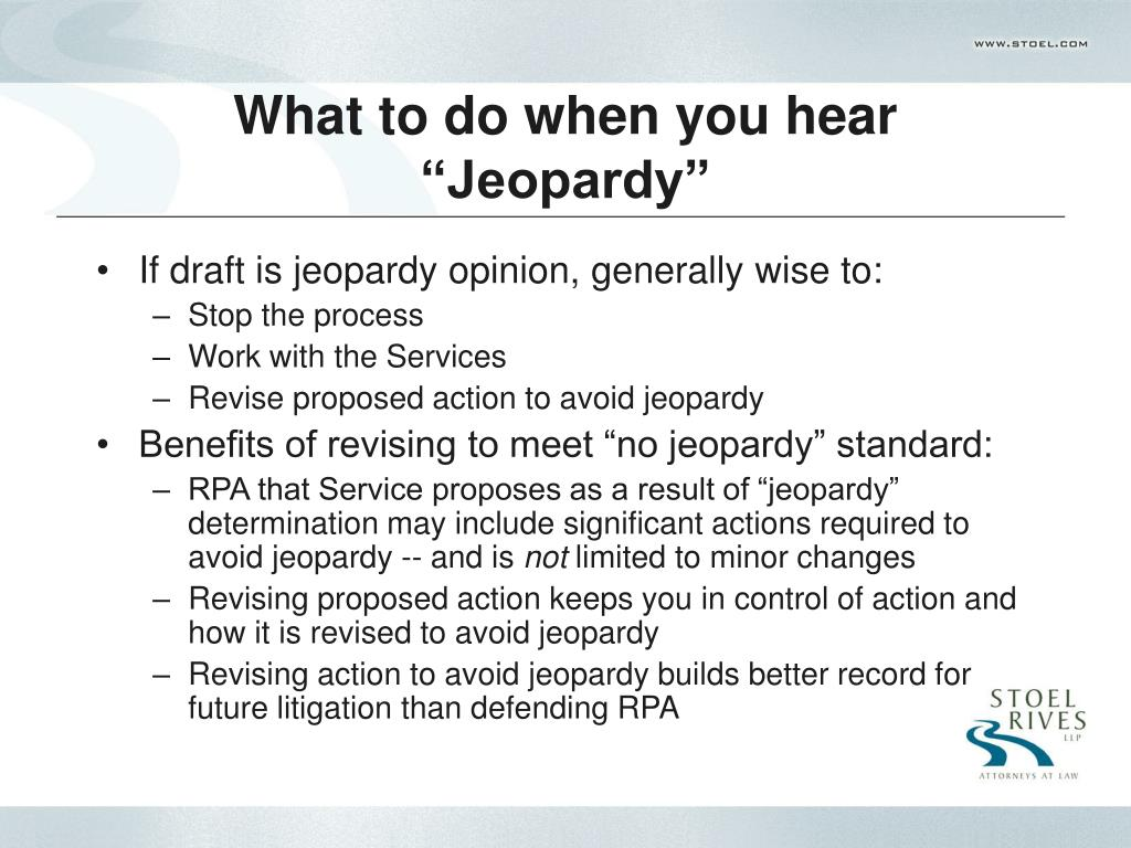 "What to do when you hear ""Jeopardy"""