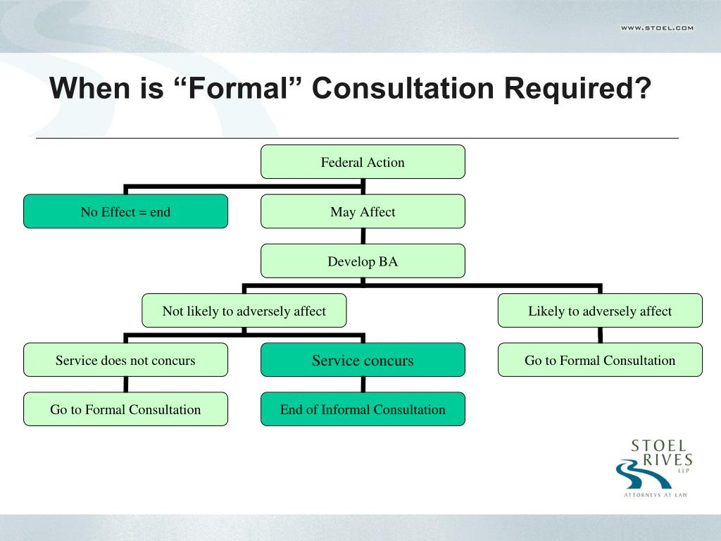 "When is ""Formal"" Consultation Required?"