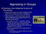 appraising in groups52