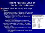 basing appraisal value on auction market reports