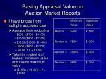 basing appraisal value on auction market reports43