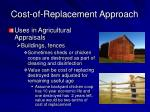 cost of replacement approach15