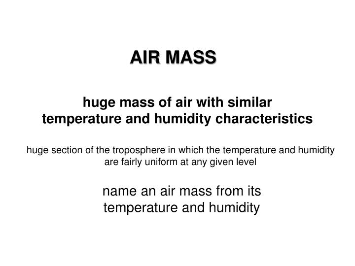 AIR MASS