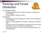 rankings and forced distribution