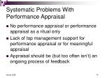 systematic problems with performance appraisal