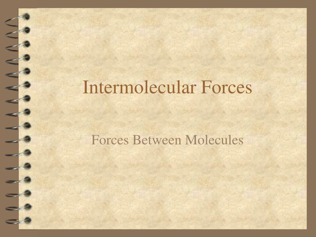 intermolecular forces l.