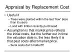 appraisal by replacement cost