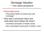 stumpage valuation from sellers perspective