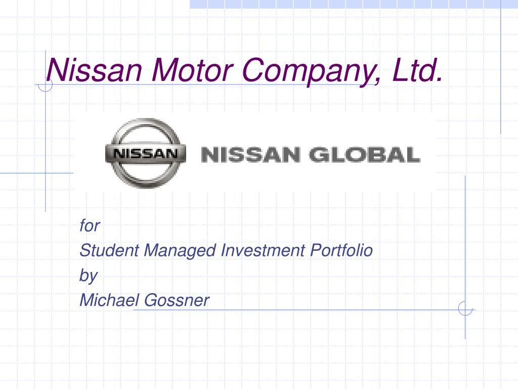 nissan motor company ltd l.