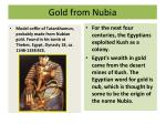 gold from nubia