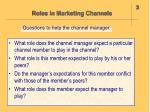roles in marketing channels21