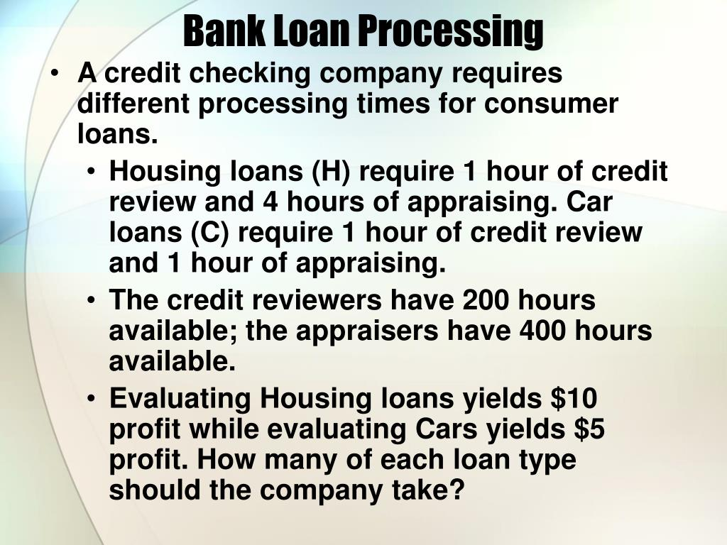 Bank Loan Processing