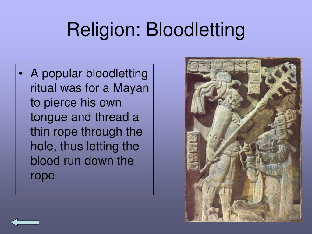 Religion: Bloodletting