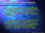 modular open system maturity