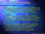 mosa maturity model