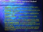 proposed mosa cmm appraisal method advantages