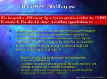 the mosa cmm purpose