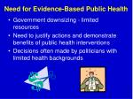 need for evidence based public health