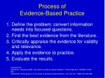 process of evidence based practice