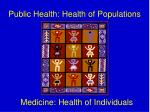 public health health of populations