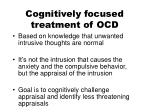 cognitively focused treatment of ocd