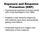 exposure and response prevention erp