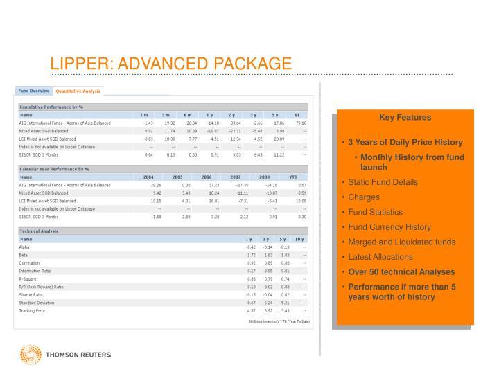 LIPPER: ADVANCED PACKAGE