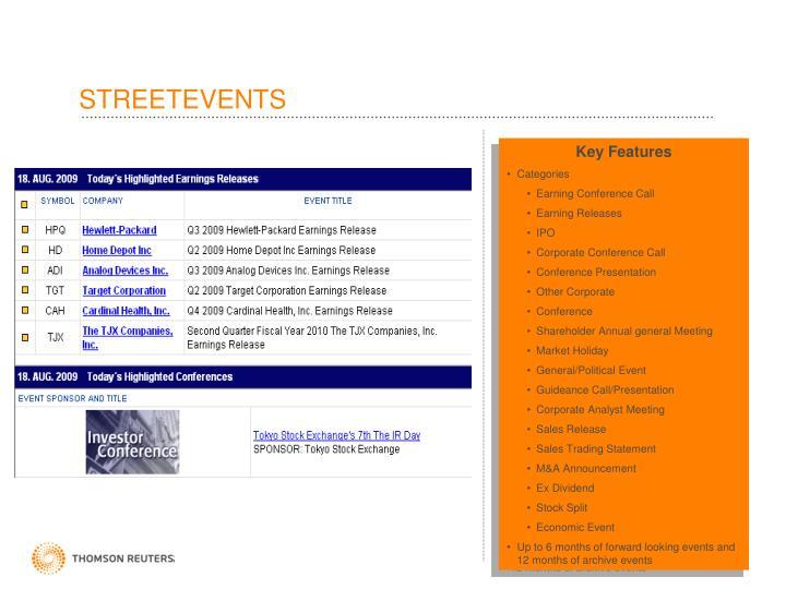 STREETEVENTS