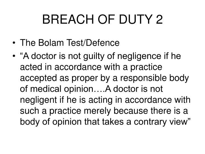 Breach of duty 2