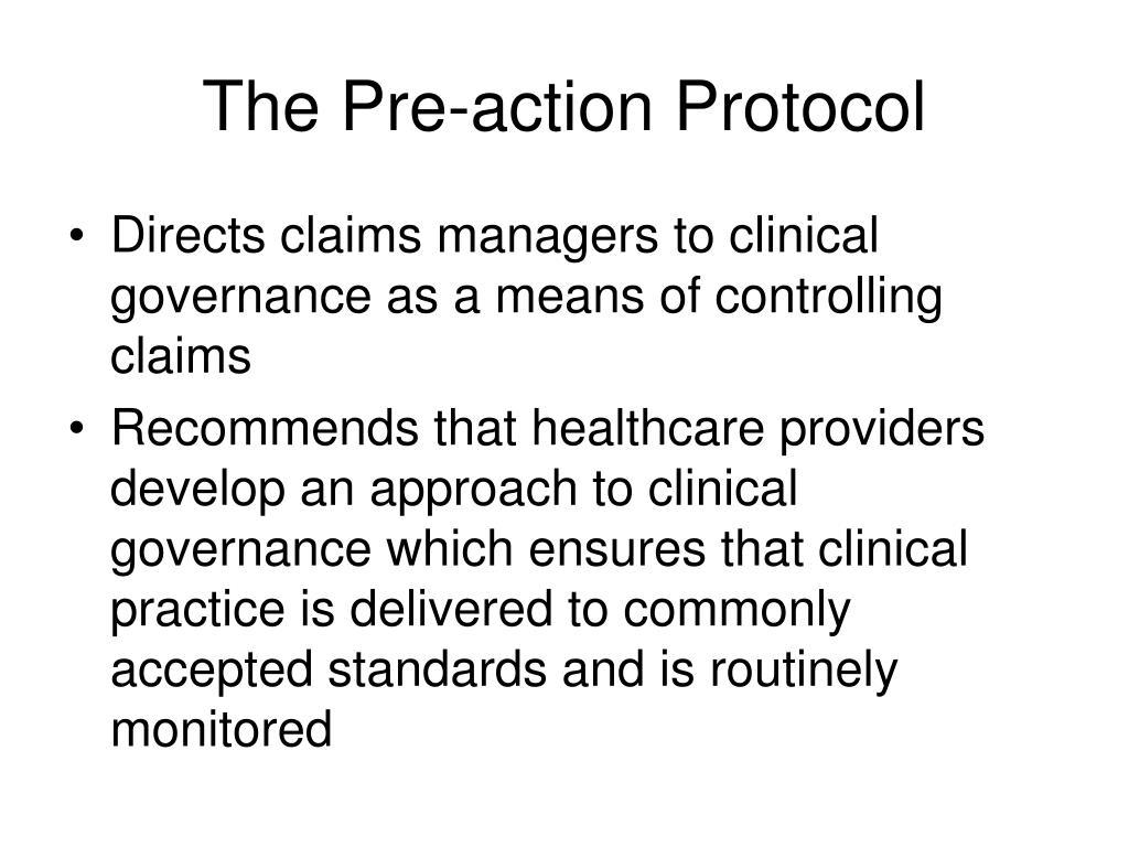 The Pre-action Protocol