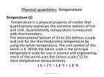 physical quantities temperature